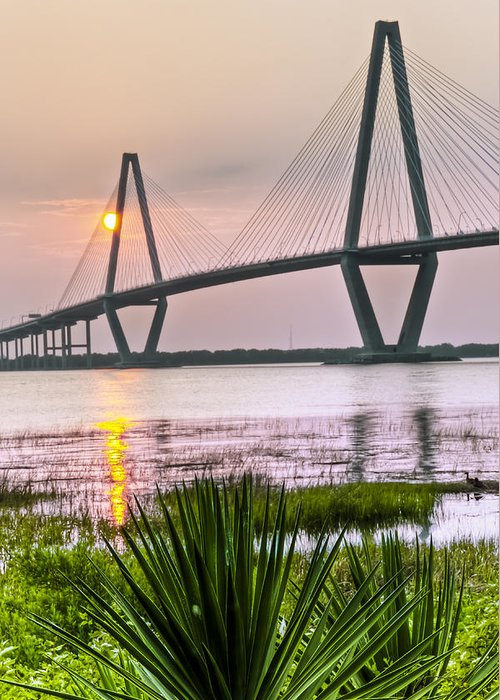 Arch Greeting Card featuring the photograph Palm Harbor Sunset - Charleston Sc by Drew Castelhano