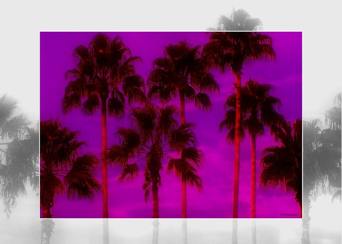 Palm Greeting Card featuring the photograph Palm Tree Heaven by Kenneth Krolikowski