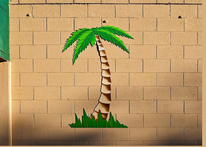 Palm Tree Greeting Card featuring the photograph Palm Tree Sign by Rich Iwasaki