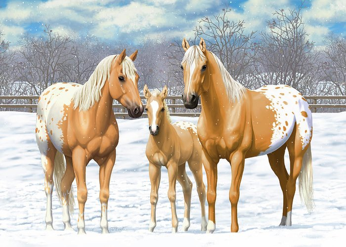 Palomino Foal Greeting Cards