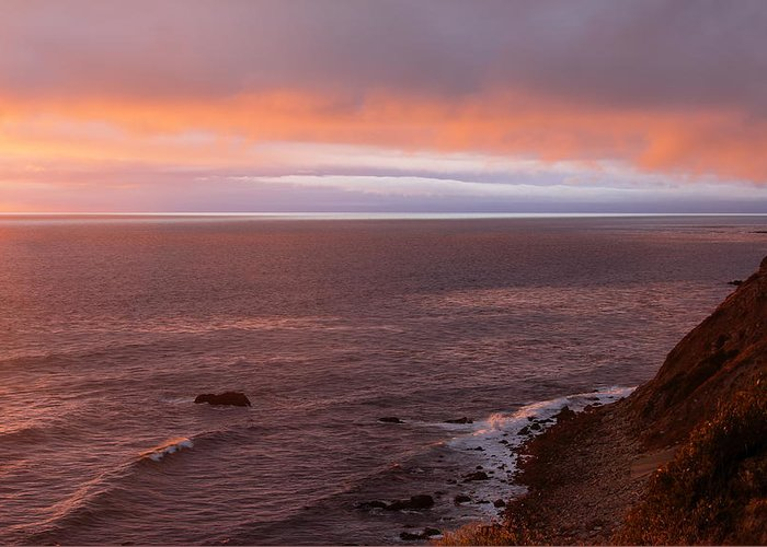 Palos Verdes At Sunset Greeting Card featuring the photograph Palos Verdes At Sunset by Viktor Savchenko