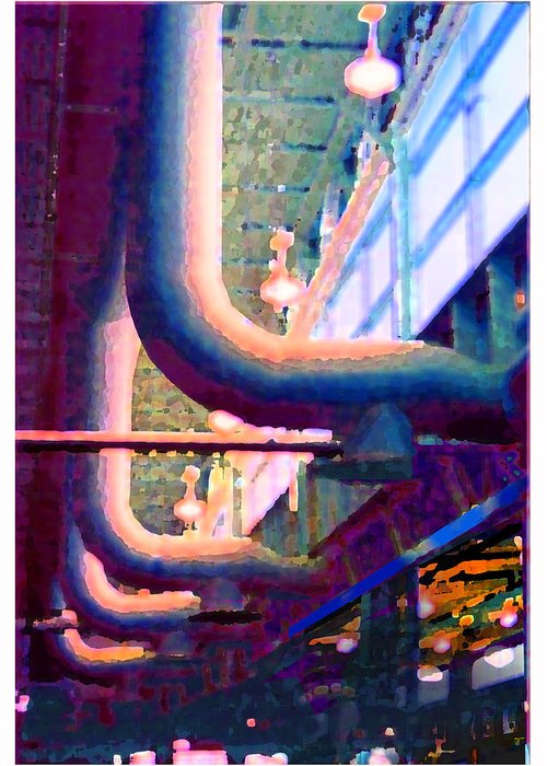 Abstract Greeting Card featuring the photograph panel one from Star Factory by Steve Karol