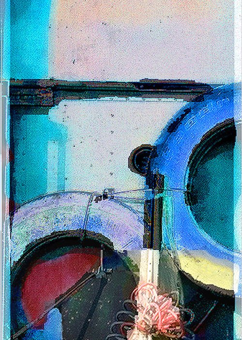 Abstract Greeting Card featuring the photograph panel three from Centrifuge by Steve Karol