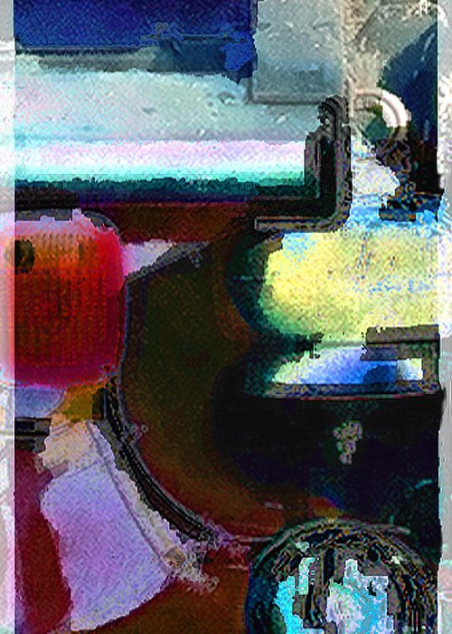 Abstract Greeting Card featuring the photograph panel two from Centrifuge by Steve Karol