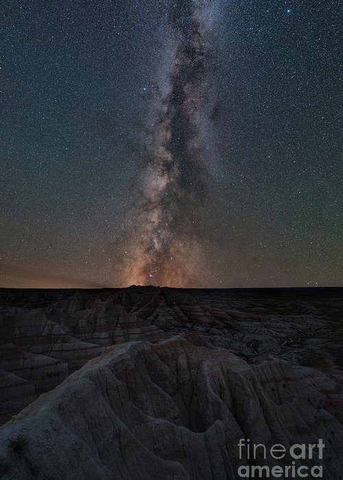 Panorama Point Greeting Card featuring the photograph Panorama Point Milky Way Badlands by Michael Ver Sprill