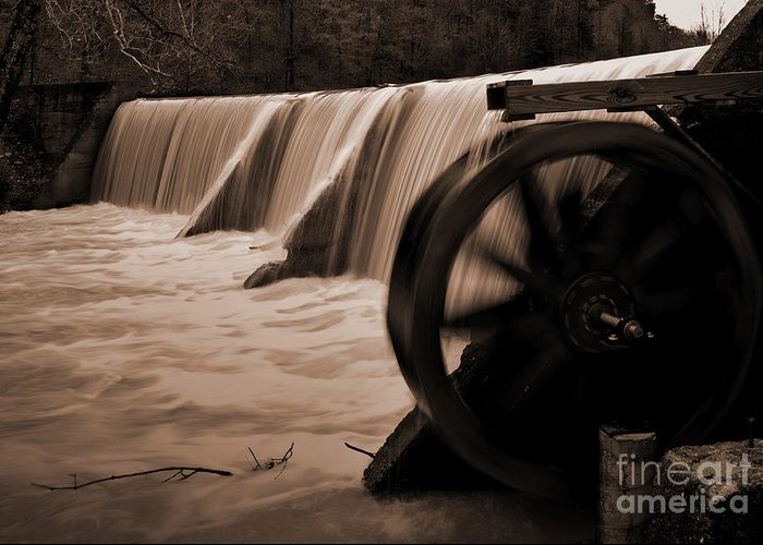 Arkansas Greeting Card featuring the photograph Panther Valley Water Wheel by Fred Lassmann