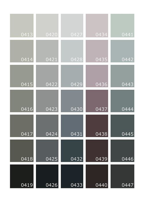 Pantone Shades Of Grey Greeting Card For Sale By Mark Rogan