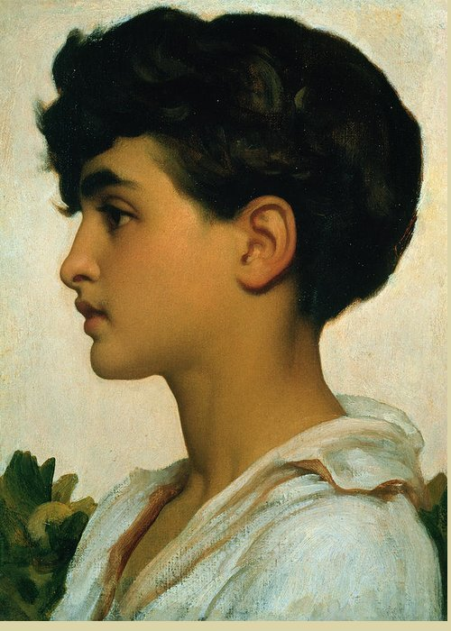Frederic 1830-96 Info. Young Boy Who Lived On The Italian Island Of Capri Greeting Cards