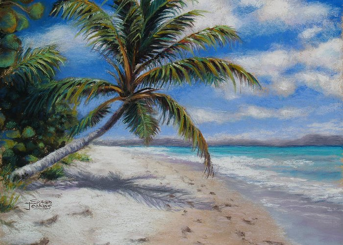 Landscape Greeting Card featuring the pastel Paradise Found by Susan Jenkins