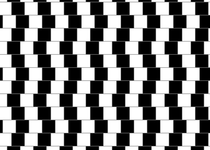 Optical Illusion Greeting Card featuring the digital art Parallel Lines by Michael Tompsett