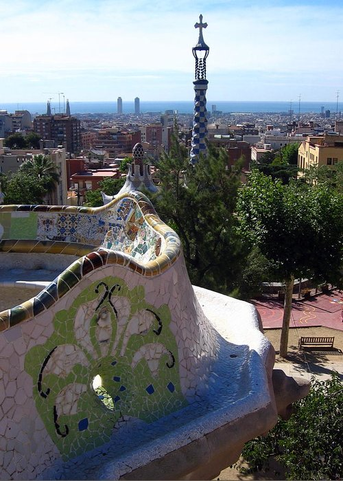 Barcelona Greeting Card featuring the photograph Parc Guell by Lindsey Orlando