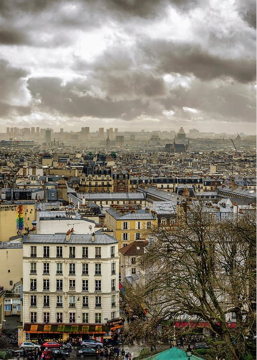 Basilica Greeting Card featuring the photograph Paris As Seen From The Sacre-coeur by Pablo Lopez