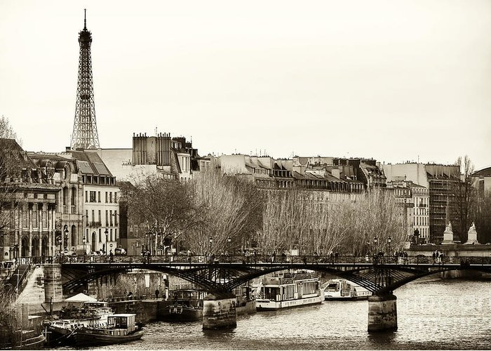 Paris Days Greeting Card featuring the photograph Paris Days by John Rizzuto