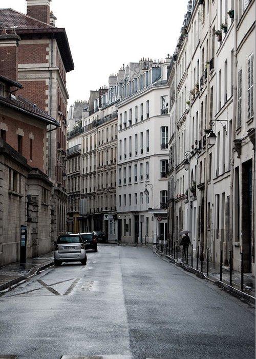 Paris Greeting Card featuring the photograph Paris Neighborhood Marais - No Right Turn 1 by Jani Freimann