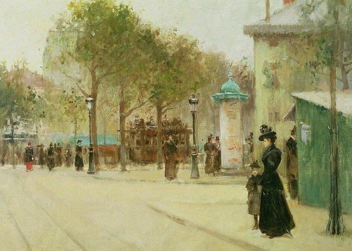 Paris Greeting Card featuring the painting Paris by Paul Cornoyer