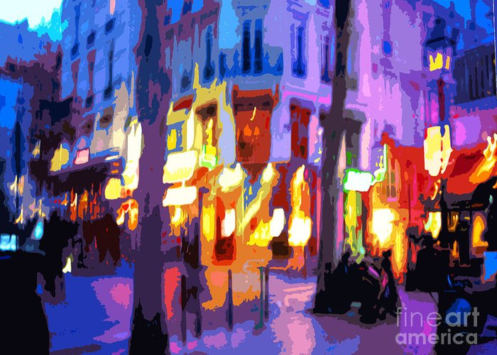 Paris Greeting Card featuring the photograph Paris Quartier Latin 02 by Yuriy Shevchuk