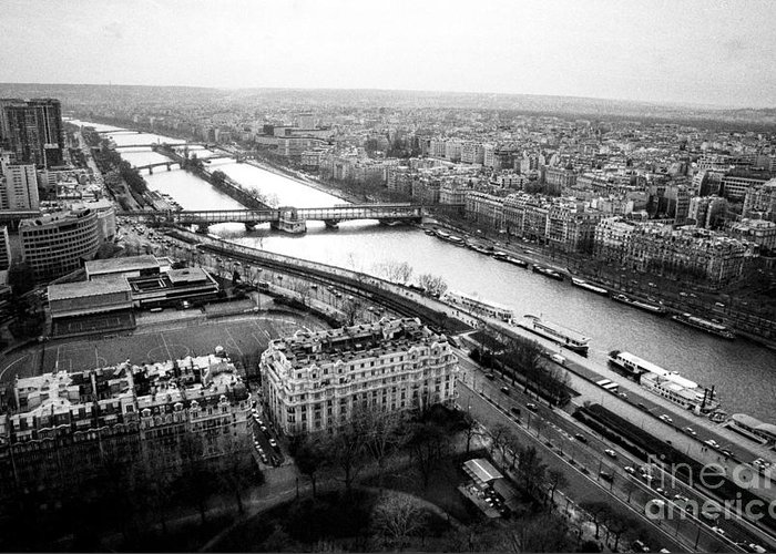 City Greeting Card featuring the pyrography Paris -rive Gauche . by Cyril Jayant