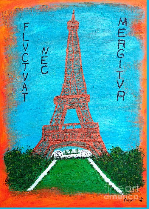 Paris Greeting Card featuring the painting Paris by Sascha Meyer