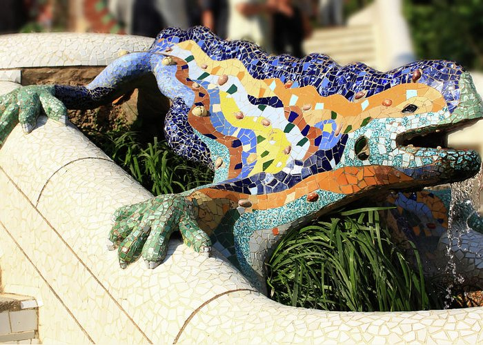 Barcelona Greeting Card featuring the photograph Park Guell by Rui Caldeira