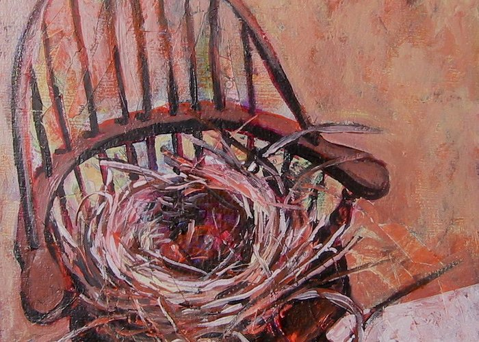 Still Life Greeting Card featuring the painting Parting Is Such Sweet Sorrow by Tilly Strauss