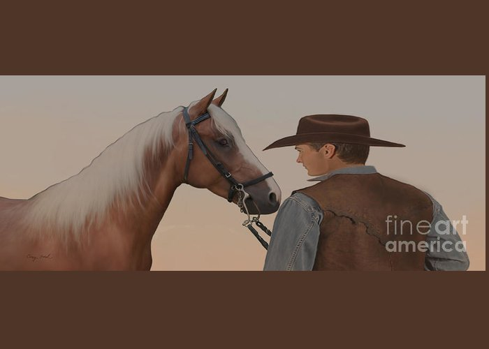 Cowboy Greeting Card featuring the painting Partners by Corey Ford