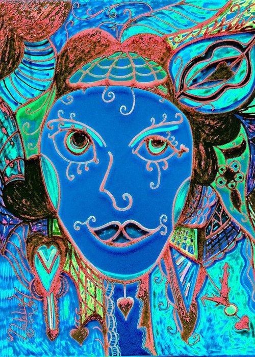Party Girl Greeting Card featuring the painting Party Girl by Natalie Holland