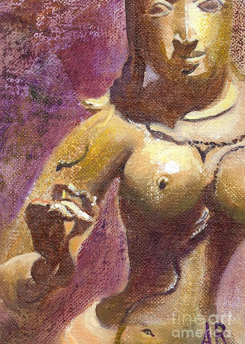 Parvati Greeting Card featuring the painting Parvati by Ann Radley