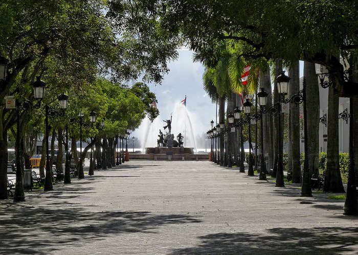 Architecture Greeting Card featuring the photograph Paseo De La Princesa In San Juan by George Oze