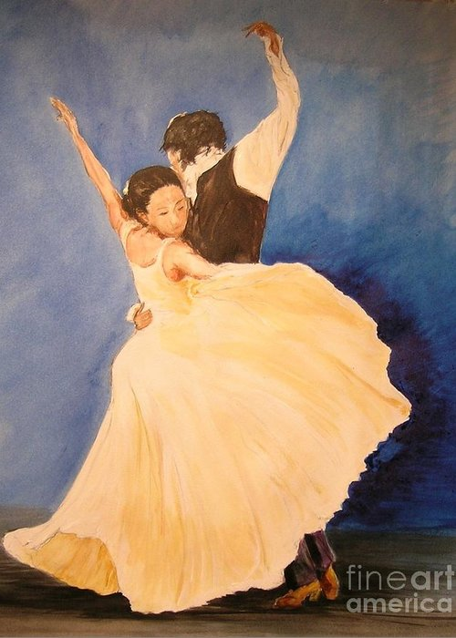 Spain Greeting Card featuring the painting Pasion Gitana by Lizzy Forrester