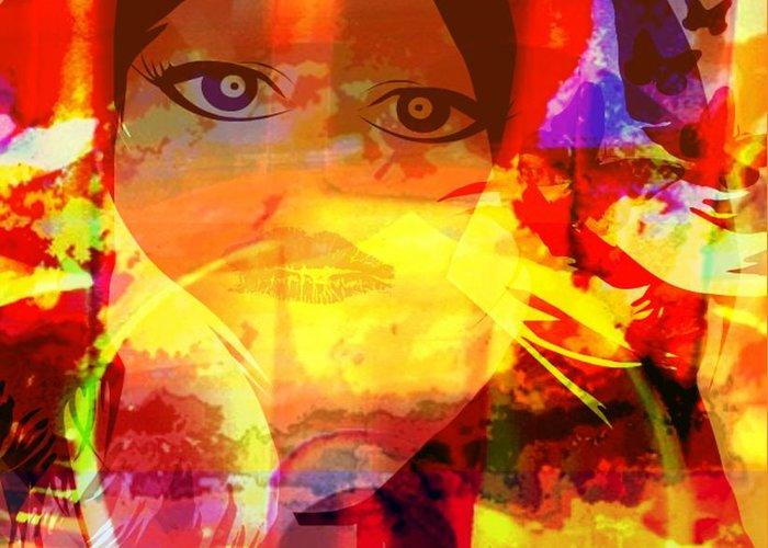 Fania Simon Greeting Card featuring the digital art Passage - Another Human Trade by Fania Simon