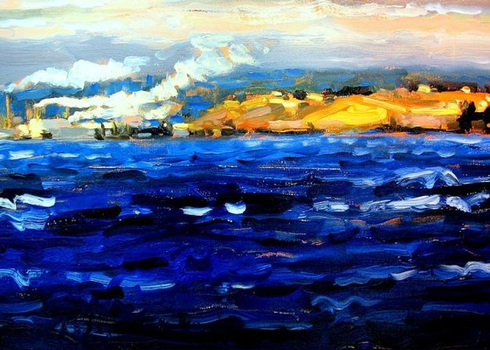 Ocean Paintings Greeting Card featuring the painting Passage by Brian Simons