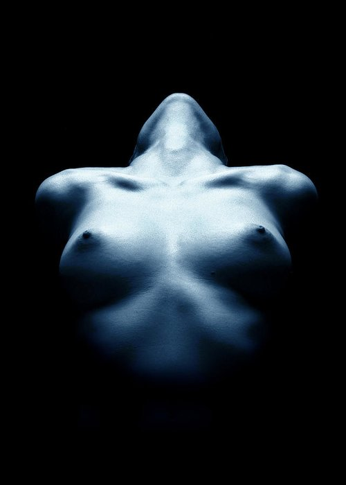 Nude Greeting Card featuring the photograph Passion by Tim Booth