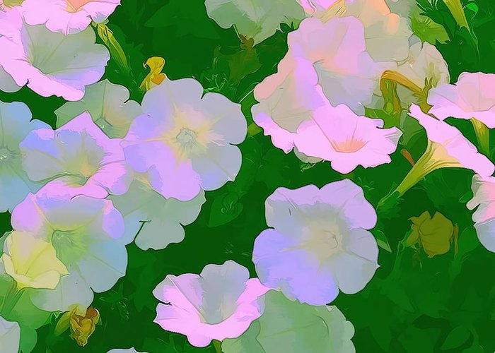 Artistic Photography Greeting Card featuring the photograph Pastel Flowers by Tom Prendergast