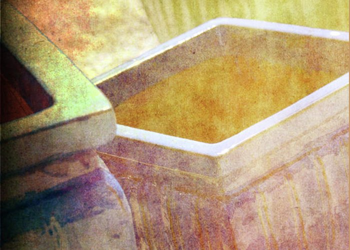 Pottery Greeting Card featuring the photograph Pastel Pottery by Susanne Van Hulst