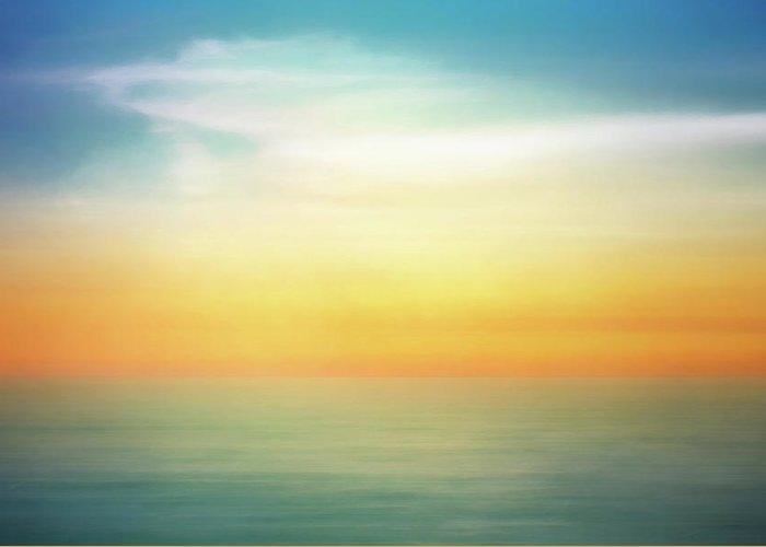Pastel Greeting Card featuring the digital art Pastel Sunrise by Scott Norris
