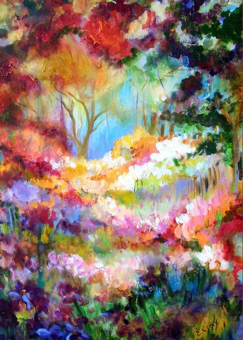 Landscape Greeting Card featuring the painting Pastoral Scene by Elaine Cory