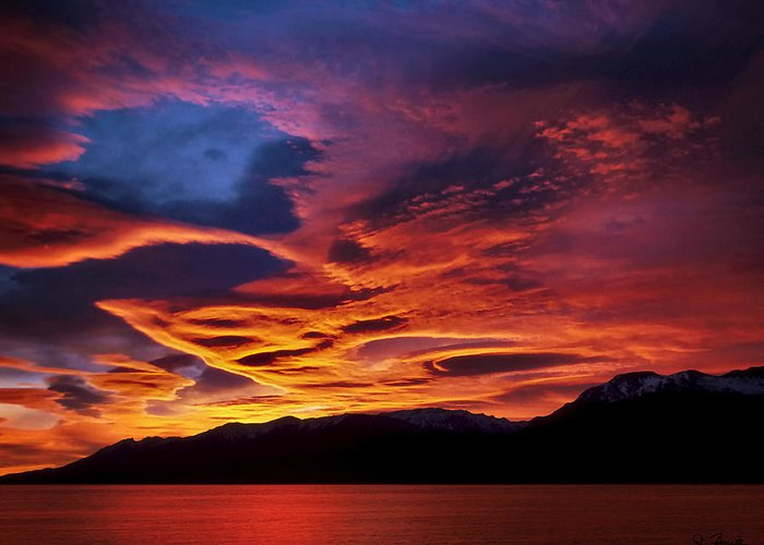 Patagonia Greeting Card featuring the photograph Patagonian Sunrise by Joe Bonita