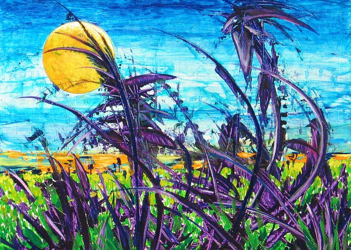 Landscape Greeting Card featuring the painting Patch Of Field Grass by Rollin Kocsis