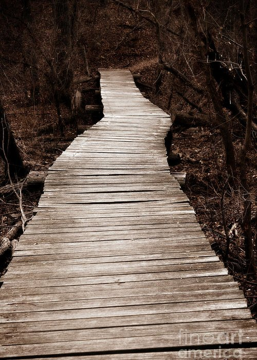 Path Greeting Card featuring the photograph Path To Nowhere by Jeannie Burleson