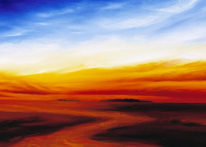 Sunrise Greeting Card featuring the painting Path To Redemption by James Christopher Hill