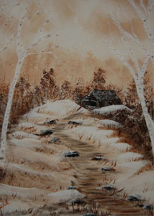 Acrylics Greeting Card featuring the painting Pathway To Freedom by Laurie Kidd