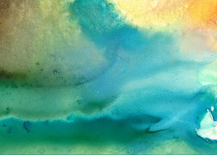 Abstract Seascape Greeting Cards