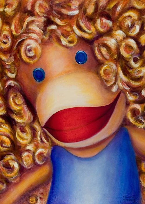 Children Greeting Card featuring the painting Patricia by Shannon Grissom