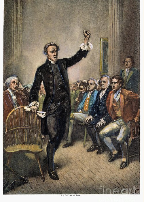 1774 Greeting Card featuring the photograph Patrick Henry (1736-1799) by Granger
