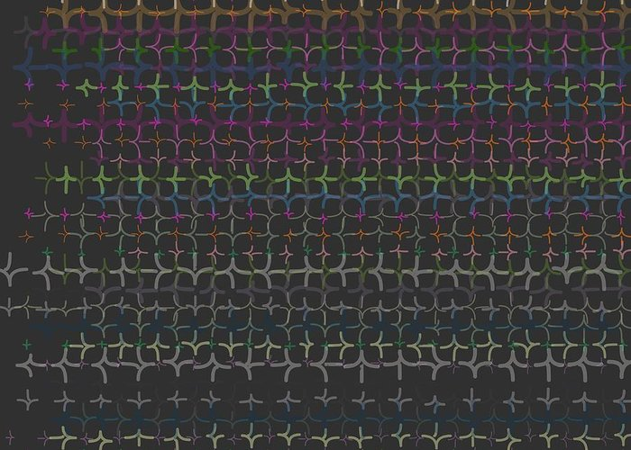 Pattern 105 Greeting Card featuring the digital art Pattern 105 by Marko Sabotin