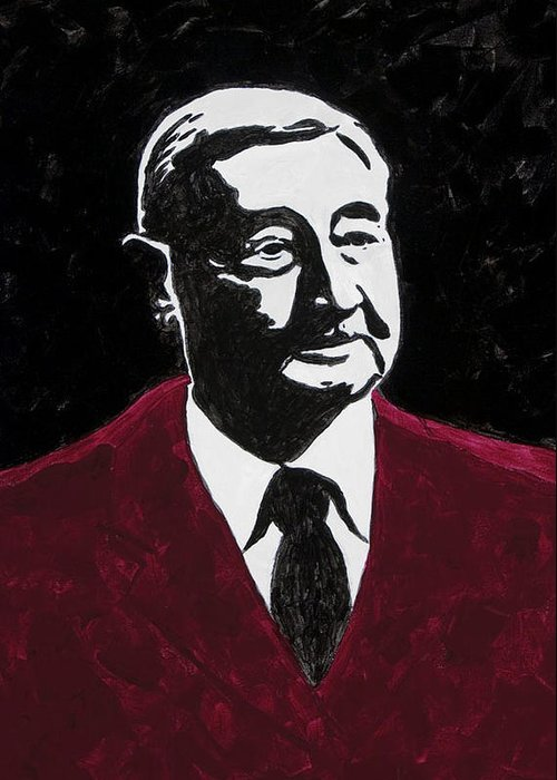 Voice Of The Razorbacks Greeting Card featuring the painting Paul Eells by Amy Parker