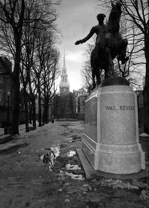 Architecture Greeting Card featuring the photograph Paul Revere by Andrew Kubica
