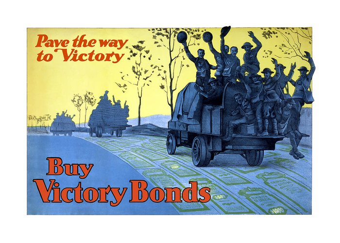 World War One Greeting Card featuring the painting Pave The Way To Victory by War Is Hell Store