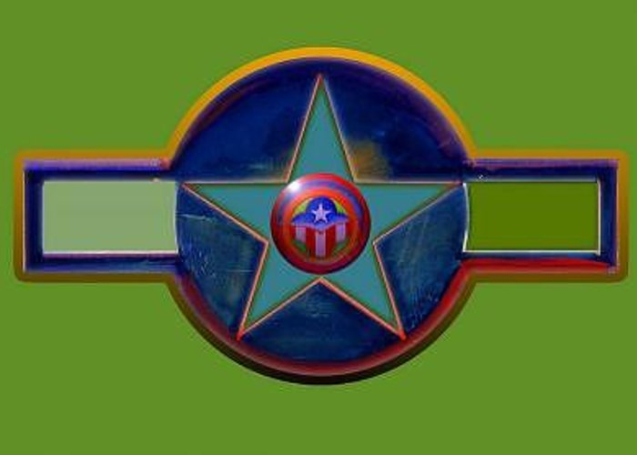 Usaaf Insignia Greeting Card featuring the digital art Pax Americana Decal by Charles Stuart