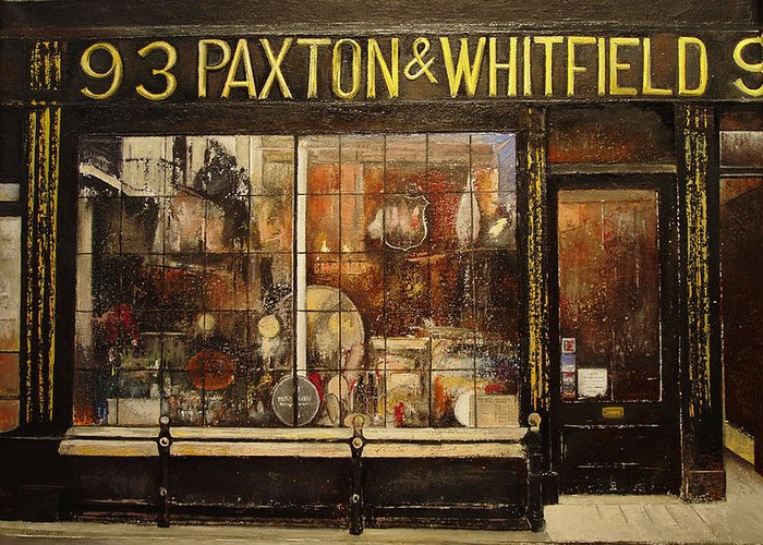 Paxton Greeting Card featuring the painting Paxton Whitfield .london by Tomas Castano